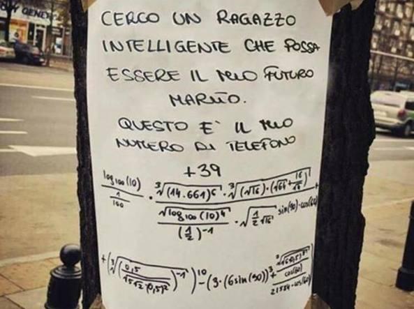 """""""CERCO UOMO INTELLIGENTE PER MARITO"""", L'ANNUNCIO È GENIALE"""
