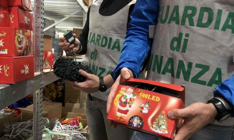 MISTERBIANCO: SEQUESTRATI 1 MILIONE E MEZZO DI PRODOTTI ELETTRICI ILLEGALI