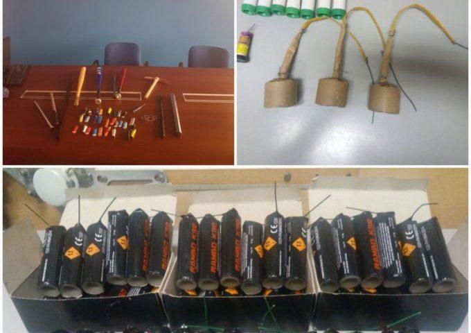 CATANIA: Tifosi del Matera trovati con 52 bombe carta e fumogeni