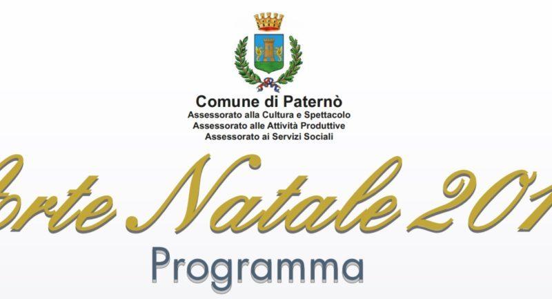 """PATERNO': Programma """"Arte Natale 2017"""""""