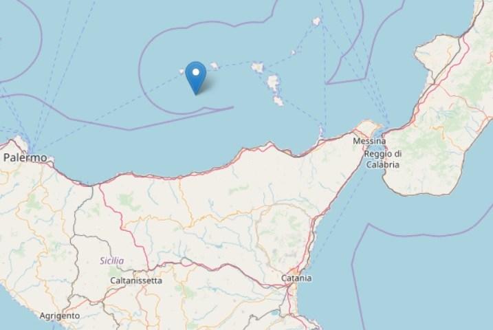 Terremoti, 4 scosse tra le isole Eolie, Capo d'Orlando e Cefalù. La più forte di magnitudo 3.6