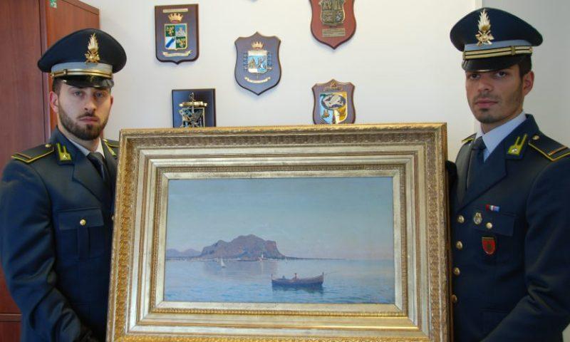 """Sequestro da un milione di euro e un quadro del pittore Lo Iacono alla """"Nuova Sport Car S.p.A."""""""
