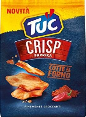 Tuc Crisp Paprika ritirati dai supermercati: presenza di senape nelle confezioni