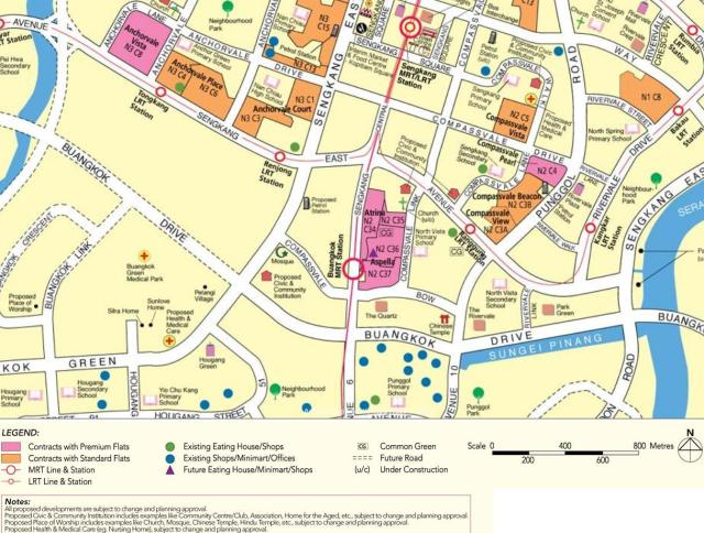 HDB BTO flats Aspella map