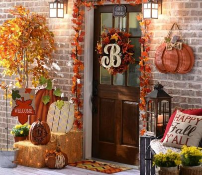 Easy But Inspiring Outdoor Fall Decoration Ideas 84