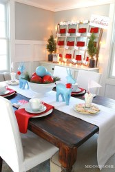 Beautiful Red Themed Kitchen Design Ideas For Christmas 24