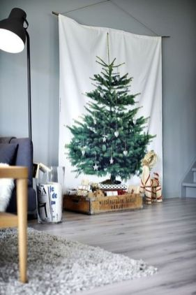 Easy And Creative DIY Christmas Tree Design Ideas You Can Try As Alternatives 27