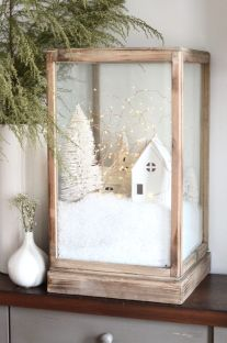Elegant White Vintage Christmas Decoration Ideas 01
