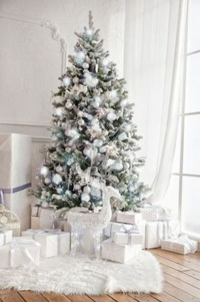 Elegant White Vintage Christmas Decoration Ideas 25