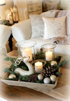 Elegant White Vintage Christmas Decoration Ideas 78