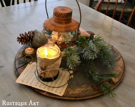 Inspiring Modern Rustic Christmas Centerpieces Ideas With Candles 10