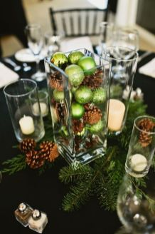 Inspiring Modern Rustic Christmas Centerpieces Ideas With Candles 45