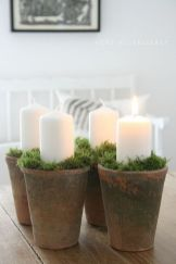 Inspiring Modern Rustic Christmas Centerpieces Ideas With Candles 65
