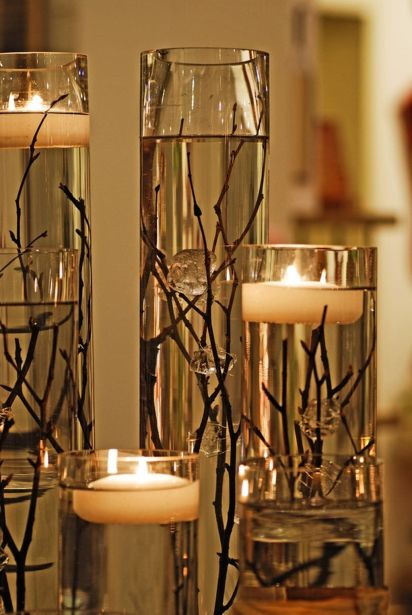 Inspiring Modern Rustic Christmas Centerpieces Ideas With Candles 71