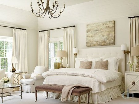Modern And Elegant White Master Bedroom Decoration Ideas 53