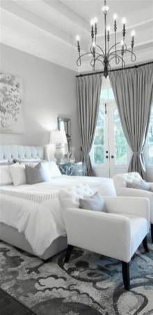 Modern And Elegant White Master Bedroom Decoration Ideas 95