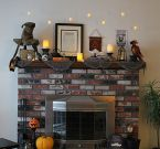 Scary But Classy Halloween Fireplace Decoration Ideas 42