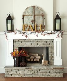 Scary But Classy Halloween Fireplace Decoration Ideas 68