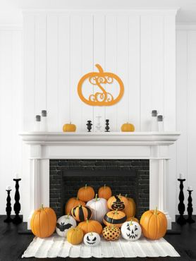 Scary But Classy Halloween Fireplace Decoration Ideas 90