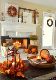 Scary But Classy Halloween Fireplace Decoration Ideas 98