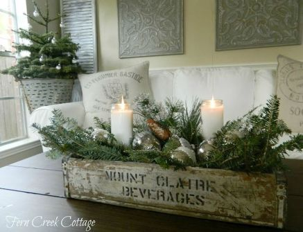 Stunning White Vintage Christmas Decoration Ideas 68