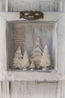 Stunning White Vintage Christmas Decoration Ideas 84