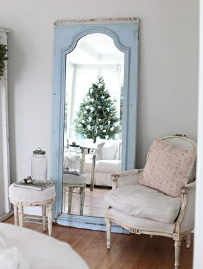 Stunning White Vintage Christmas Decoration Ideas 96