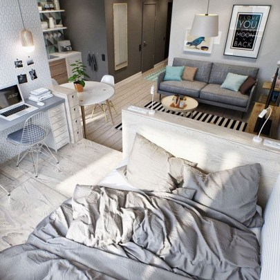 Totally Brilliant Bedroom Design Ideas For Small Apartment 90