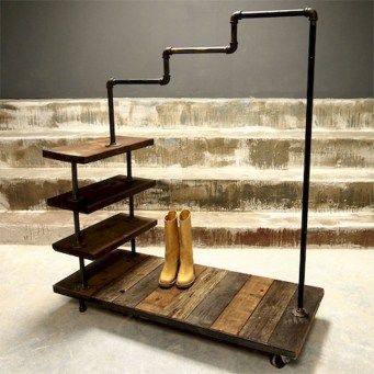 Creative Diy Industrial Shoe Rack Ideas 09