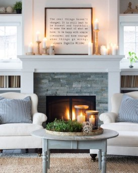 Best Winter Living Room Decoration Ideas 50