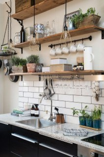 Stylish Rustic Kitchen Apartment Decoration Ideas 05