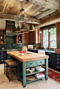Stylish Rustic Kitchen Apartment Decoration Ideas 30