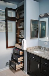 Brilliant Small Bathroom Storage Organization Ideas 29