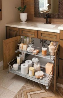 Brilliant Small Bathroom Storage Organization Ideas 37