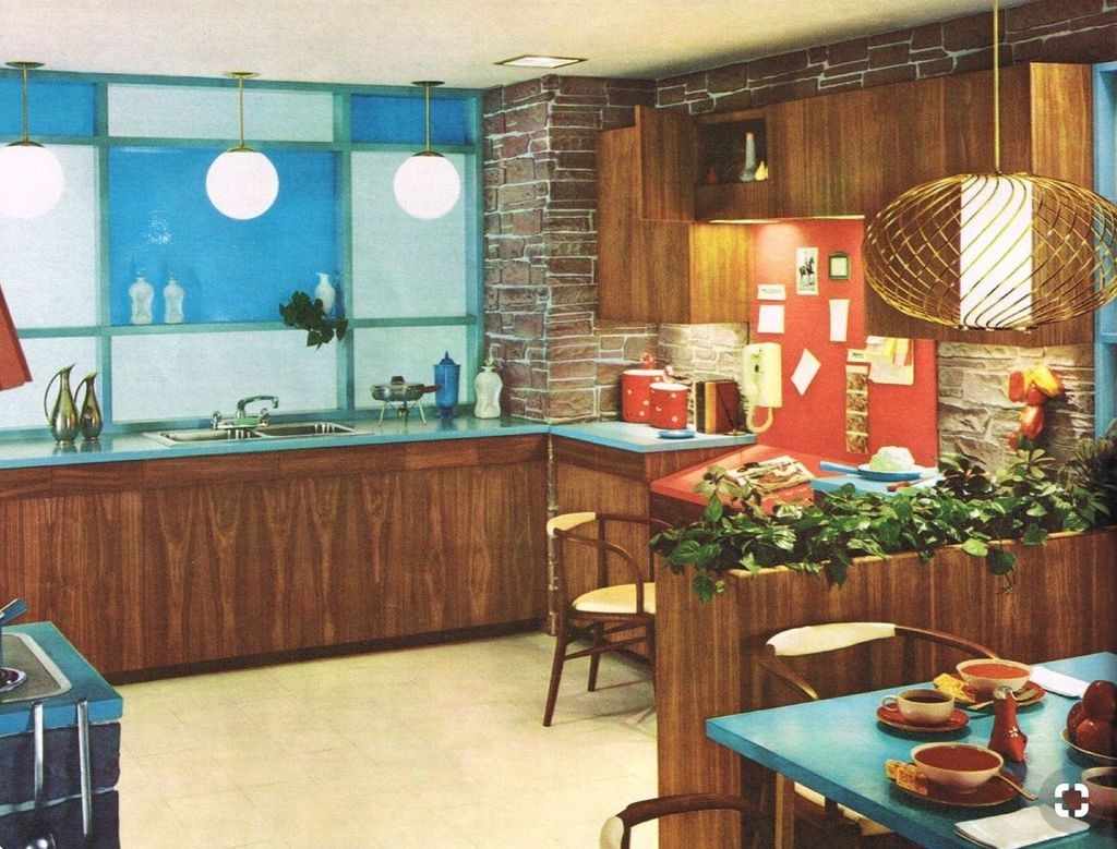 Cool Modern Mid Century Kitchen Decoration Ideas 17