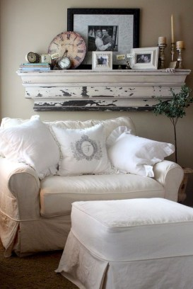 Cute Shabby Chic Farmhouse Living Room Decor Ideas 23