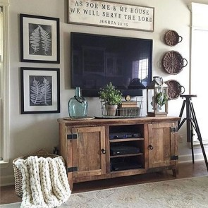 Cute Shabby Chic Farmhouse Living Room Decor Ideas 30