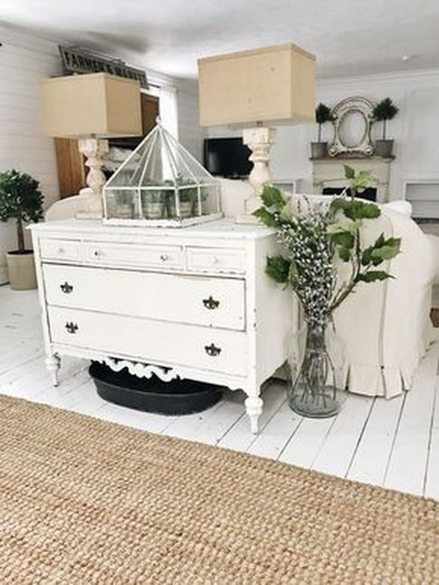 Cute Shabby Chic Farmhouse Living Room Decor Ideas 45