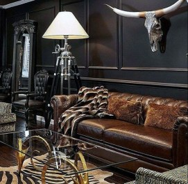 Beautiful Leather Couch Decorating Ideas For Living Room36