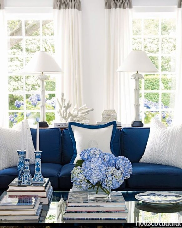 Gorgeous White And Blue Living Room Ideas For Modern Home 04