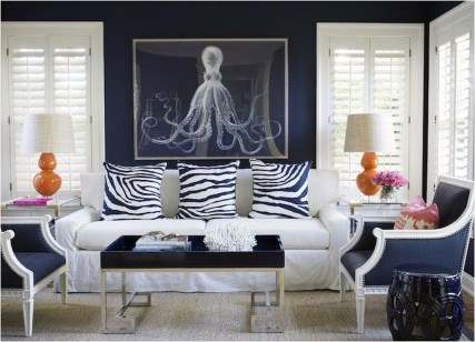 Gorgeous White And Blue Living Room Ideas For Modern Home 05