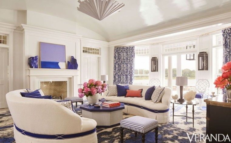 Gorgeous White And Blue Living Room Ideas For Modern Home 14