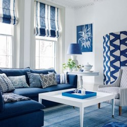 Gorgeous White And Blue Living Room Ideas For Modern Home 40