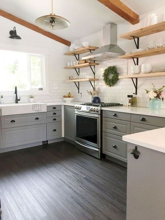 Modern Rustic Farmhouse Kitchen Cabinets Ideas 27