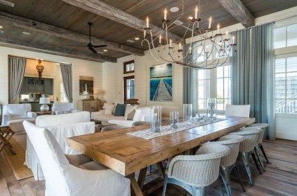 Stunning Beach Themed Dining Room Design Ideas 45