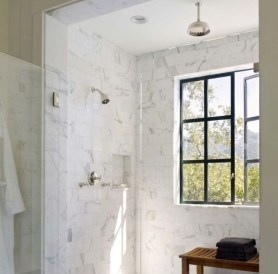 Elegant Farmhouse Shower Tiles Design Ideas04