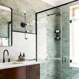 Elegant Farmhouse Shower Tiles Design Ideas13