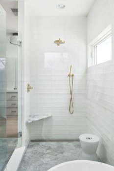 Elegant Farmhouse Shower Tiles Design Ideas32