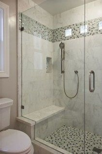 Elegant Farmhouse Shower Tiles Design Ideas37