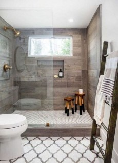 Elegant Farmhouse Shower Tiles Design Ideas39